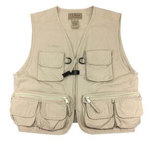 NEW LL BEAN Mens Safari Hunting Fishing Vest